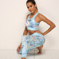 2pcs sport yoga Définir le tissu de polyester Sports Wear Vêtements de remise en forme de nouveaux motifs
