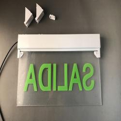 Superficie de pared LED montado en el signo de la salida de emergencia de la luz de la salida 297