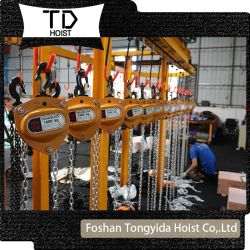 V bloc de chaîne de 1 tonne de 6 mètres de la chaîne de 2 tonnes de bloc Le bloc pour chaîne manuel