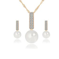 Placage or argent 925 Bijoux Set perle naturelle