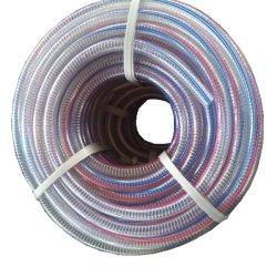 中のゆとりPVC鋼線の補強されたホースを滑らかにしなさい