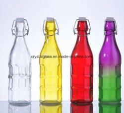 Peinture fait sur mesure en verre coloré de bouteilles de boissons hermétique