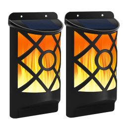 Angeschaltener LEDburning-Aufflackern-Flamme-Feuer-Licht Oudoor Garten-Wand-Lampeningbo-Fabrikwalmart-Solarverkäufer für Feiertags-Geschenk