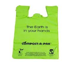 Sacchetto di immondizia concimabile biodegradabile diplomato Ue dei sacchetti di plastica dell'amido di mais del sacchetto di plastica