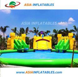 水公園装置の膨脹可能なプール水ゲームの膨脹可能なスライドのプール