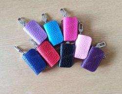 Porte-clés de voiture en cuir sac sacs de clé de carter de chaîne de clés avec anneau Pouchkey Cove