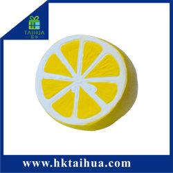 熱い販売人工的なレモン静かにSquishy遅い上昇の泡立ったPUのフルーツの圧力のおもちゃ