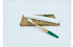 Accueil couleur naturelle Logo personnalisé Poils en nylon doux brosse à dents en bois de bambou