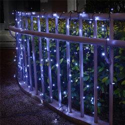 Las luces de la cadena al aire libre Solar 8 modos de color blanco de las luces de la cuerda resistente al agua 20m 200 LED para jardín al aire libre en el interior de las partes
