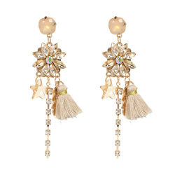 Groothandel 2018 Top Design Women Fashion Jewelry Accessoires Fashion Colorful Crystal Tasteel Oorbellen