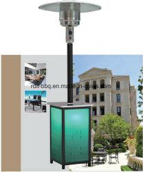 Standplatz Squre Patio-Heizung mit Edelstahl Pole und Acryl-Karosserie mit normalem Brenner