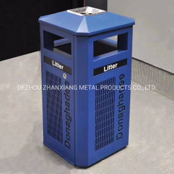 Soem-StahlAbfalleimer-Abfall-Sortierfach-im Freienmetallüberschüssiges Sortierfach