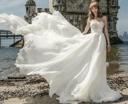 Шнурка платья империи мантии a партии Tulle Bridal Bridal - линия платье венчания Ld11523