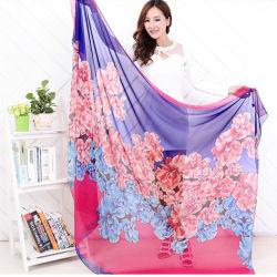 L'art de style chinois et de foulards de soie souple de l'impression