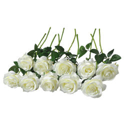 ホーム党および結婚式の装飾のための接触乳液の人工花のプラスチックローズの装飾的な人工花の絹のローズの実質の花