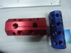 In hohem Grade - leistungsfähige CNC maschinell bearbeitete Strangpresßling-Verteilerleitung in Aluminium 6063