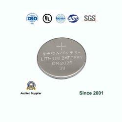 Cr2025 3V el botón de litio primaria de la Pila de botón