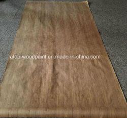 Teca de Birmania QC/Cc, de chapa natural Chapa de madera de teca de Birmania con el papel de estraza 4*8 pies.