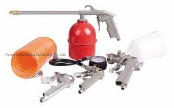 pistole pneumatiche della vernice di spruzzo degli strumenti HVLP della pittura dell'aria 5PCS impostate