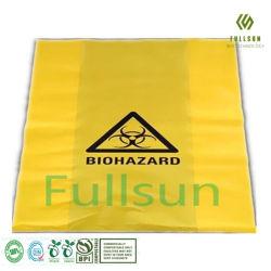 Les emballages en plastique biodégradable à 100 % de l'hôpital Trashbin sac à ordures jaune compostables Biohazard produits jetables sac de déchets médicaux