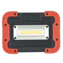 Аккумуляторный светодиодный фонарь рабочего освещения, портативный фонарик початков 10W Суперяркий аварийного питания прожекторов банк устройство для рабочего совещания на строительной площадке.