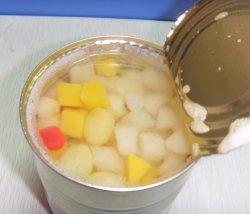 중국 신선한 과일 가벼운 시럽에 담근 칵테일 과일