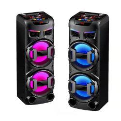 De dubbele Spreker van de Toren van BT van de PA van 10 Duim Houten Systeem Aangedreven Draagbare