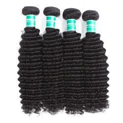 Matérias-Indian Cabelo humano a tecelagem, Grossista Raw Templo indiano cabelos da Índia, matérias-Remy Virgem Cabelo Indiano 100 dos direitos do