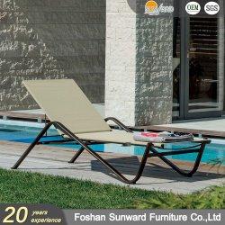 Caliente de venta al por mayor de ocio al aire libre Playa personalizadas patio jardín lateral Venta Resort Hotel Piscina tumbonas de madera contrachapada de aluminio cama