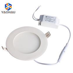 LED 10mm montés en surface vers le bas du panneau de lumière blanc froid ronds/carrés 6000K 24/18/12 Watt