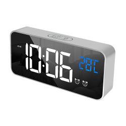 TravelのためのTemperatureのMorden White LED DIGITAL Alarm Clock