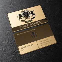 Custom Real Gold закрывается Gold Business Card из нержавеющей стали и VIP Fashion босс карты