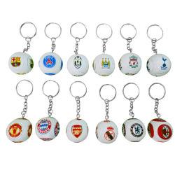 축구 열쇠 고리 늘어진 미식 축구 팬 월드컵은 PU 주문을 받아서 만들어진 작은 선물 기념품 선물을 공급해 로고를 인쇄한