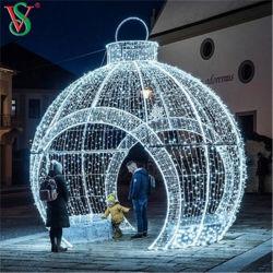 De alta calidad china el gigante de bolas de Navidad LED