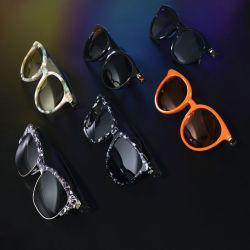 سماعات رأس رياضية لاسلكية سماعات رأس ستريو سماعات أذن مشغل موسيقى MP3 بدون استخدام اليد نظارات شمسية