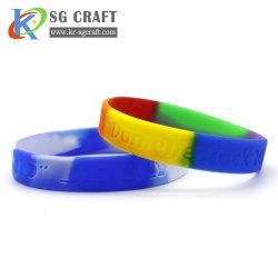 Hot Custom Armband Silicone Armband gloeiende Silicone Rubber polsbandjes Promotie Gift Bulk Goedkope Silicone polsbandjes