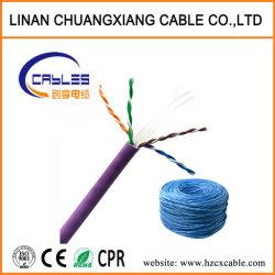 كبلات الشبكة كبل اتصالات UTP CAT6/UTP Cat5e 24AWG/23AWG PVC للسترة كبل الطاقة كبل الكمبيوتر كبل نحاسي Cu/BC/CCA