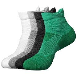 Großhandelsberufsbasketball-Mann-Socken-Form-Knöchel trifft Baumwollsocken-Sport-Socken hart