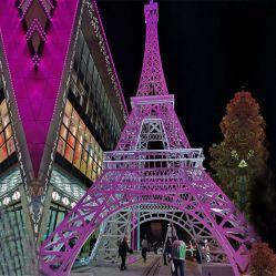 Большой наружный 5 м 6 м 8 м 12 м Садовый Эйфелевой Башни С LED-подсветкой для украшения торгового центра Garden Park
