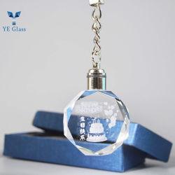سلسلة مفاتيح زجاج أوكتاجون البلوري مع رغبات عيد الميلاد للزينة