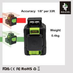 Láser verde de nivelación automática de la línea 360 de nivel láser rotativo automático de la construcción de escalas de láser giratorio Color amarillo