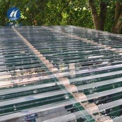 Здание парниковых ПК кровельные покрытия по борьбе с УФ поликарбоната гофрированный лист