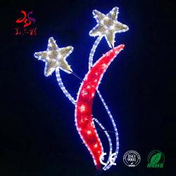 Weihnachtsstraßen-Pole-Seil-Dekoration-Motiv-Beleuchtung des neueste Produkt-im Freien Straßen-Festival-Feiertags-LED