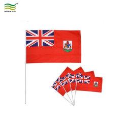 Commerce de gros Mini pôle en plastique bon marché main personnalisé d'un drapeau