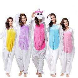 Mayorista de la fábrica de Pegaso Unicornio lana pijama de franela Kigurumi Onesies dormir