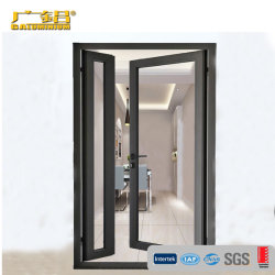 Bisagra de aluminio de doble puerta de cristal