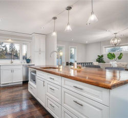 Commerce de gros de la fabrication des armoires de cuisine en bois massif de luxe Designs Meubles de cuisine personnalisé