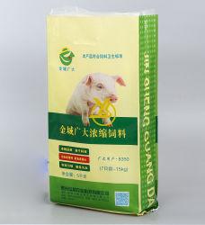쌀/동물 사료/밀가루/설탕 25kg 50kg 도매 플라스틱 반팔 포장 백 판매