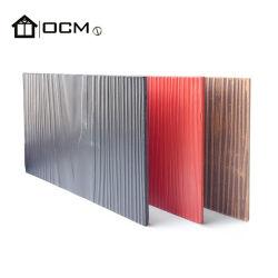 Peinture étanche panneau mural Type de grain du bois façade extérieure du Conseil d'évitement de ciment de fibre