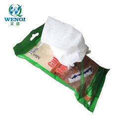 Commerce de gros biodégradable Non-Woven tissu Pâte de bois-de-chaussée Lingettes sèches